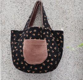 앵두꽃 양면 손가방